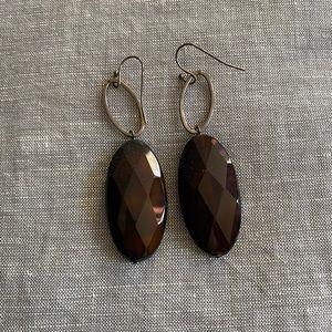 Brown Stone Earrings